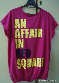 outfitters t-shirt, an affair in red square