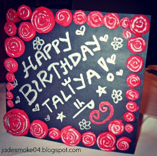 Birthday Card by Jadirah Sarmad (jadesmoke04.blogspot.com)