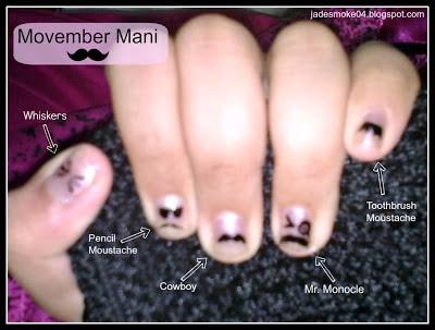 DIY Movember Manicure