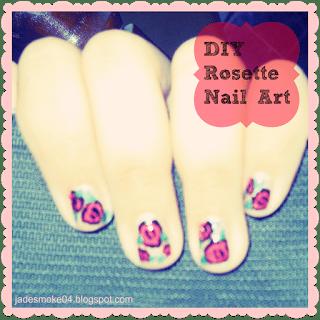 DIY Rosette Nail Art