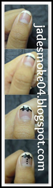 DIY Tuxedo Nail Art Tutorial Steps