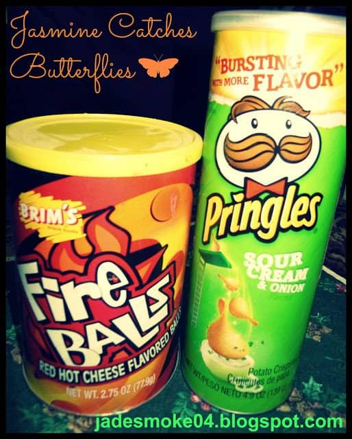 Brim's Fire Balls & Pringles Sour Cream and Onion