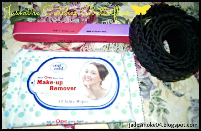 Cool & Cool Make-up Remover, Nail Filer, Belt
