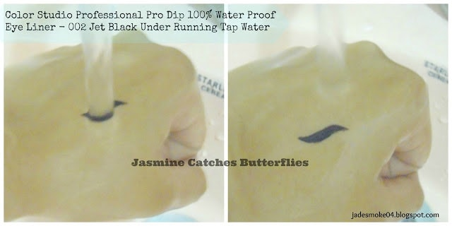 Color Studio Professional Pro Dip 100% Water Proof Eye Liner - 002 Jet Black Review & Swatches