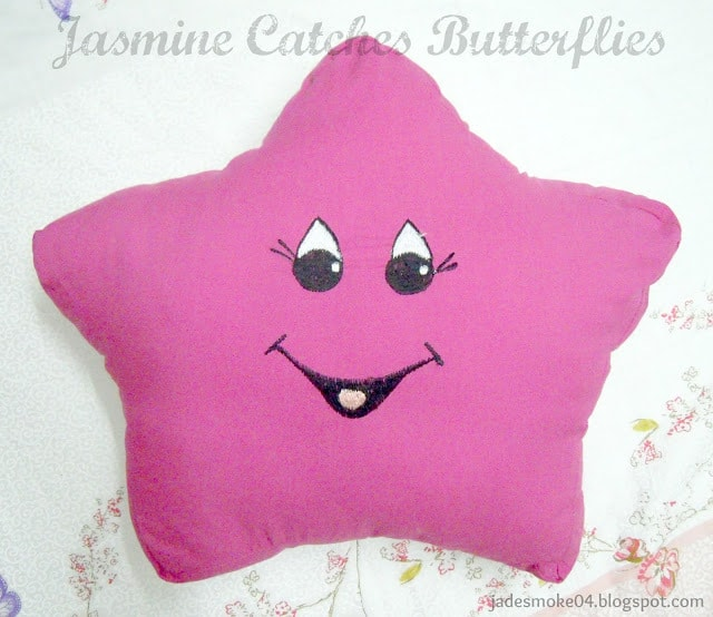 Pink Star Pillow