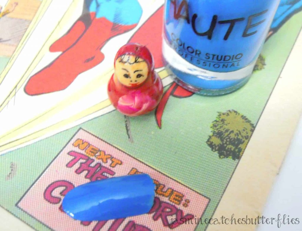 Color Studio Professional Haute Nail Polish - Superman Blue | Review and Swatch