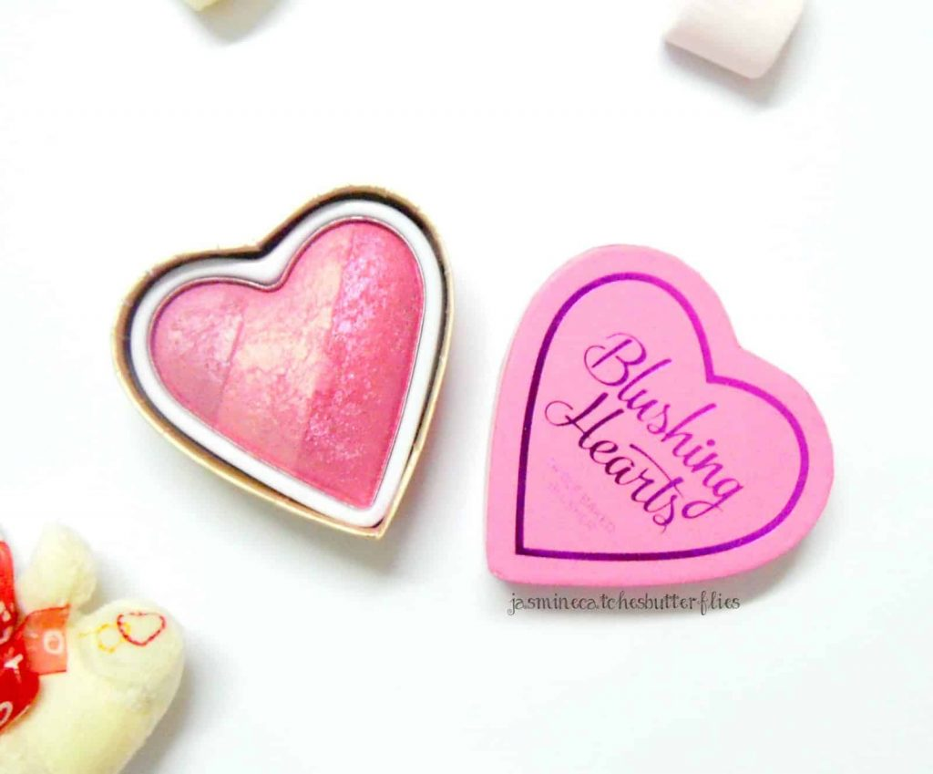 Makeup Revolution Blushing Hearts in Blushing Heart Review and Swatches