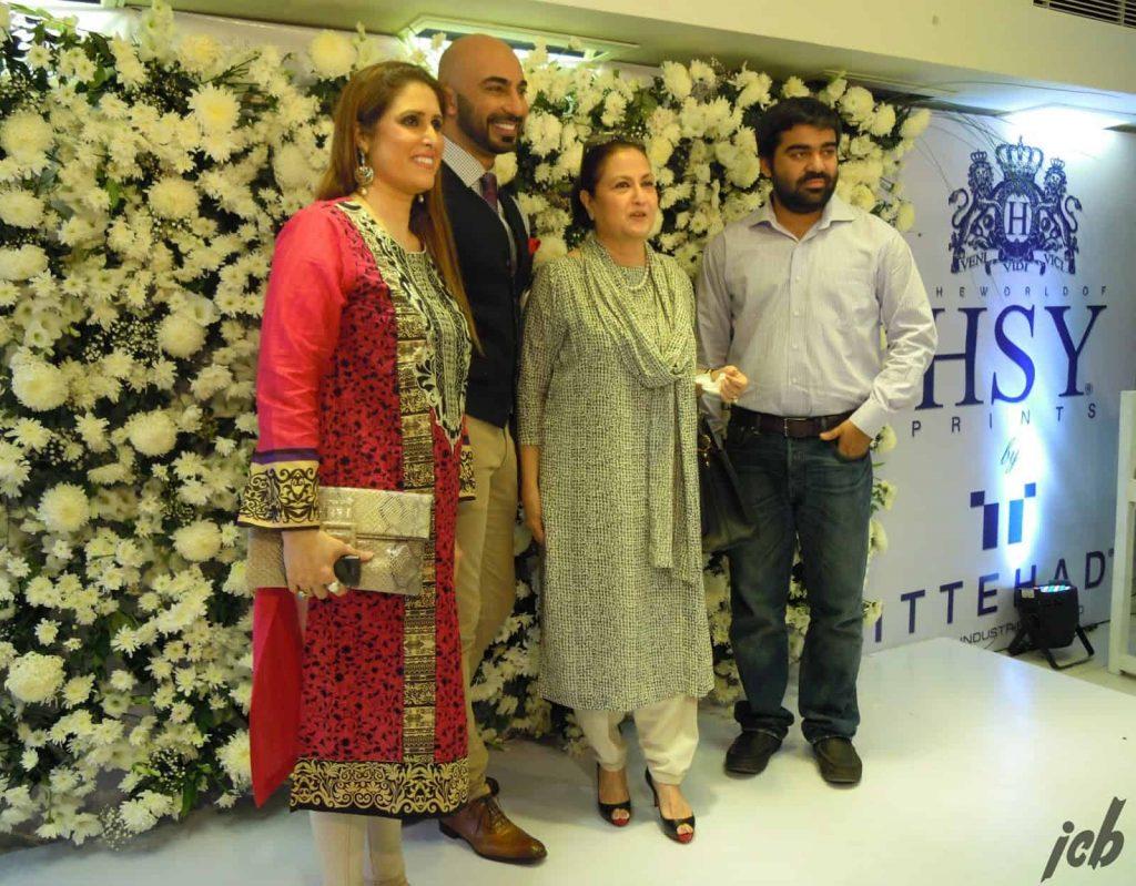Tehmina Khaled, HSY, Bunto Kazmi and Salman at launch of HSY and Ittehad Lawn
