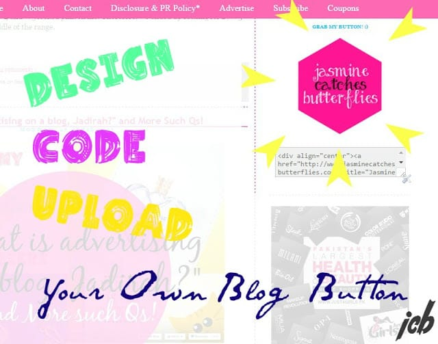 Design, Code and Upload Your Blog Button!