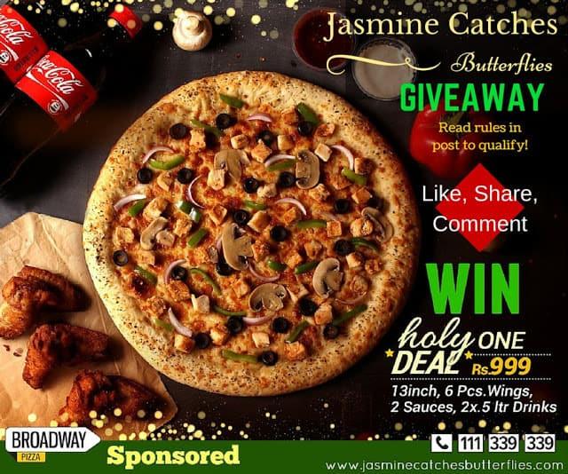 Broadway Pizza Ramadan Deal GIVEAWAY!