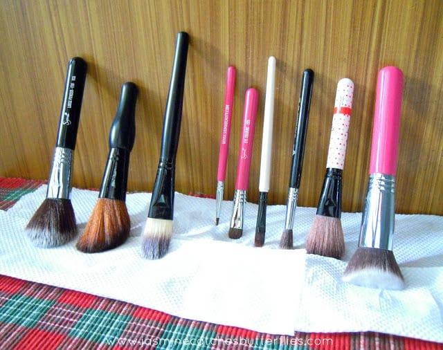 Washing and Maintenance of Makeup Brushes