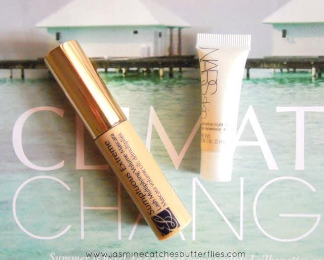 Estee Lauder Sumptuous Extreme Mascara and NARS Skin Restorative Night Treatment