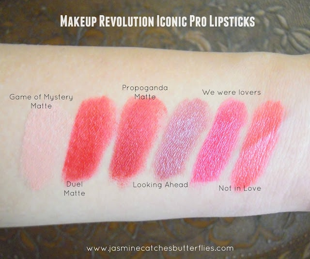 Makeup Revolution Iconic Pro Lipsticks Swatches
