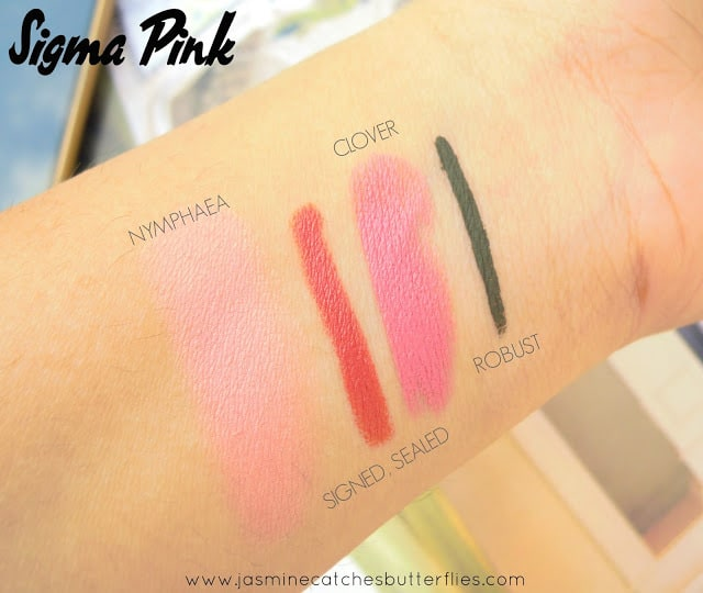 Sigma Pink Swatches