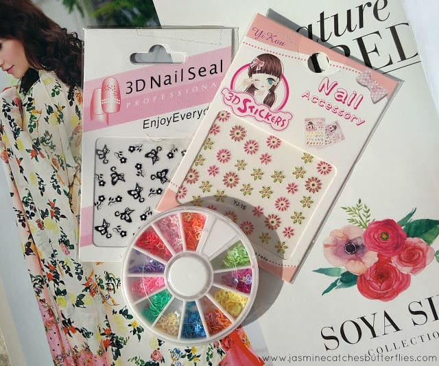 3D Nail Stickers and Sequins From Sheer Class