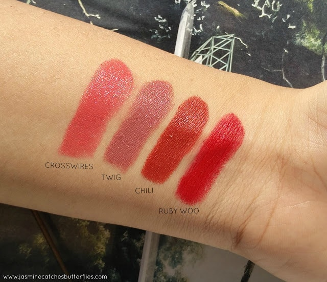 MAC Lipstick Swatches for Indian Pakistani Complexions