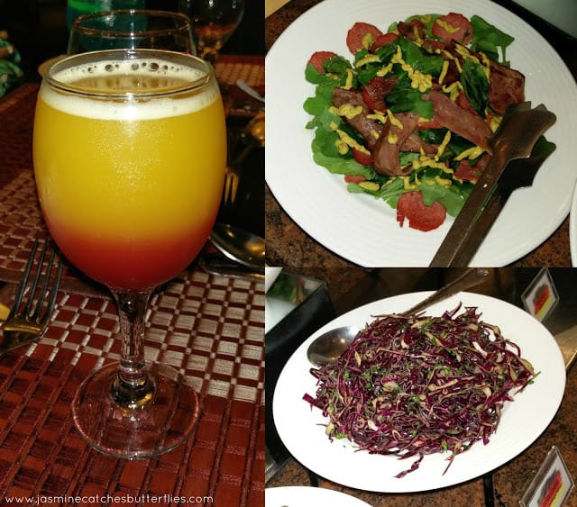 Fruit Punch, Red Cabbage Salad (Rotkohlsalat)