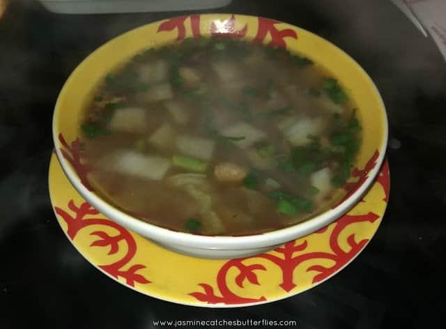 Scallop Wonton in Superior Broth Soup
