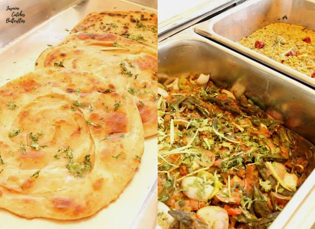 Parathas, Mixed Vegetables and Daal