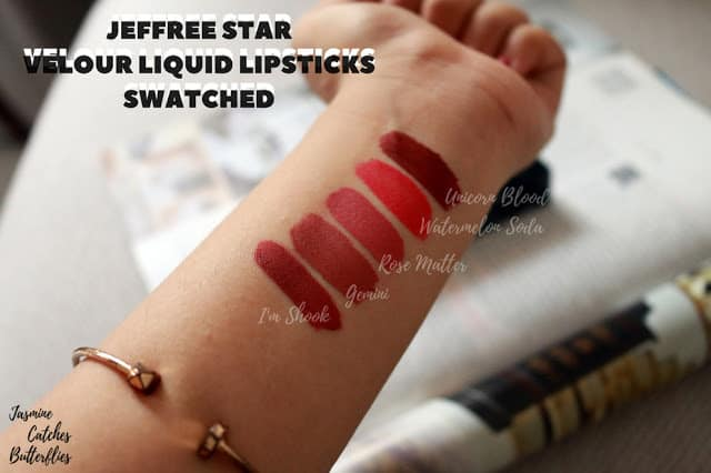 Jeffree Star Velour Liquid Lipstick Swatches