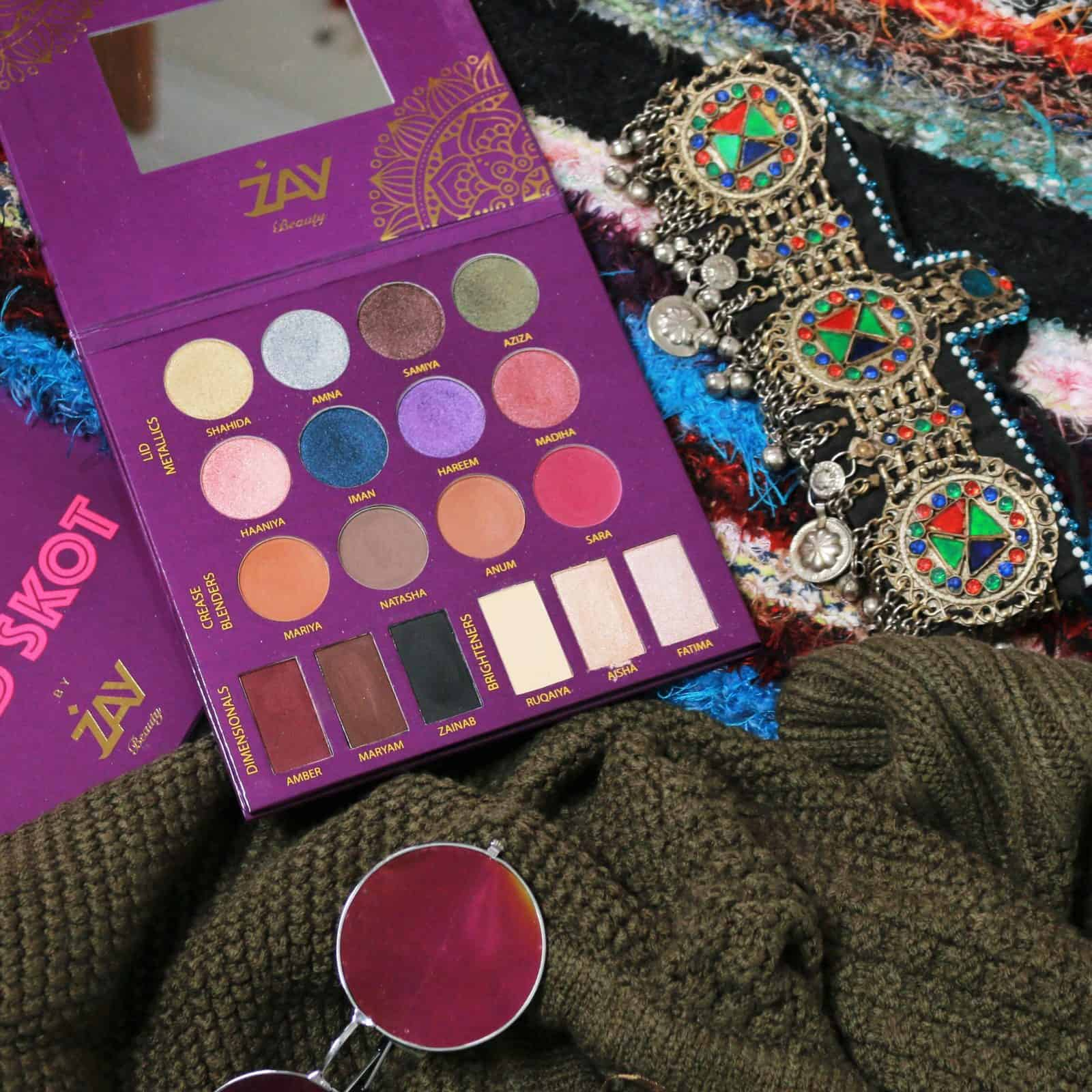 Zay Beauty Mod Skot Palette Review and Swatches